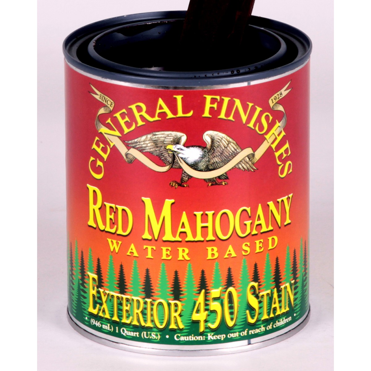 Exterior 450 Wood Stain Red Mahogany - 946ml on roof finishes, plumbing finishes, outdoor finishes, house paint finishes, industrial finishes, nichiha finishes,