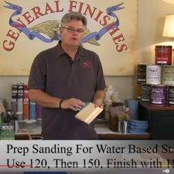 How to Prep Sand Raw Wood Video