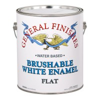 Brushable White Enamel Flat - 3.785 litre
