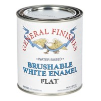 Brushable White Enamel Flat- 946ml