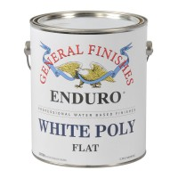 White Pigmented Poly Flat - 3.785 litre